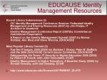 educause identity management resources