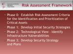 risk assessment framework