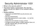 security administrator 1031