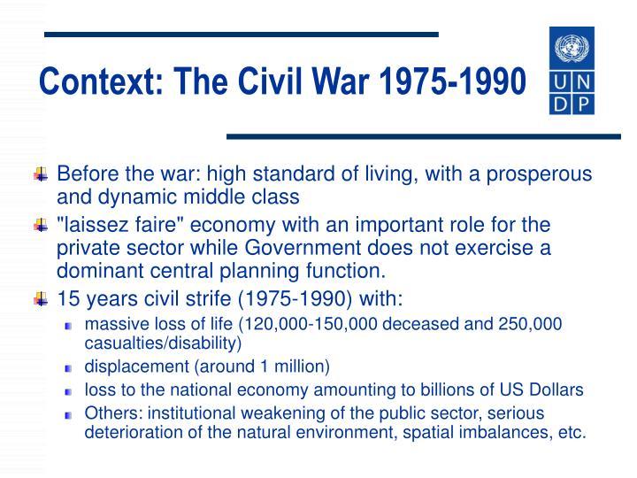 Context: The Civil War 1975-1990