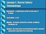 lesson 1 forest safety terminology1