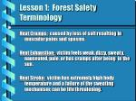 lesson 1 forest safety terminology2