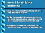 lesson 1 forest safety terminology3