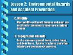 lesson 2 environmental hazards and accident prevention1
