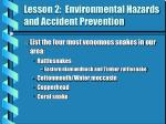 lesson 2 environmental hazards and accident prevention11