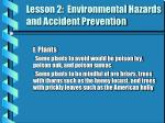lesson 2 environmental hazards and accident prevention2