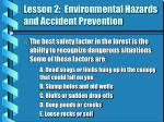 lesson 2 environmental hazards and accident prevention3