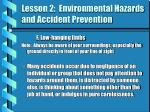 lesson 2 environmental hazards and accident prevention4