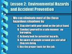 lesson 2 environmental hazards and accident prevention5