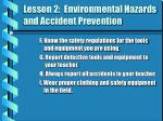 lesson 2 environmental hazards and accident prevention6