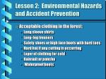 lesson 2 environmental hazards and accident prevention7