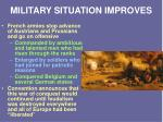 military situation improves