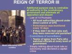 reign of terror iii