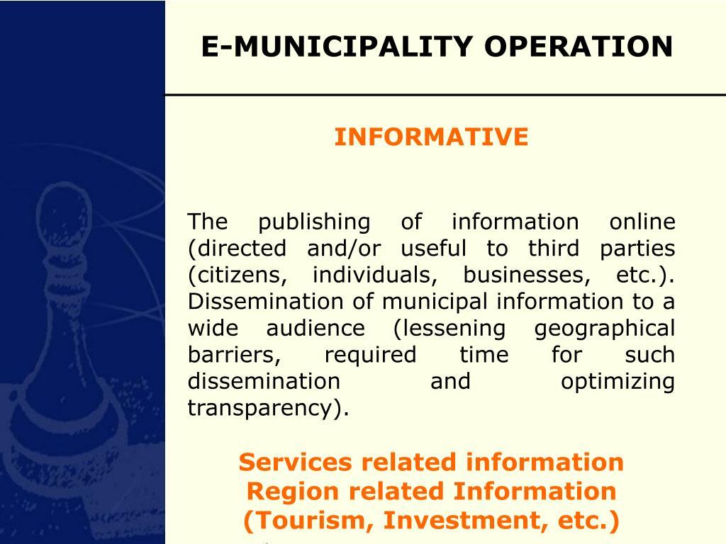 E-MUNICIPALITY OPERATION