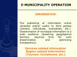 e municipality operation