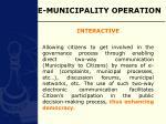e municipality operation15