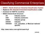 classifying commercial enterprises