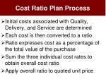 cost ratio plan process