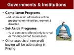 governments institutions