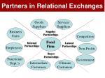 partners in relational exchanges