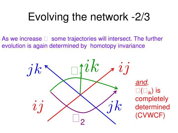 Evolving the network -2/3