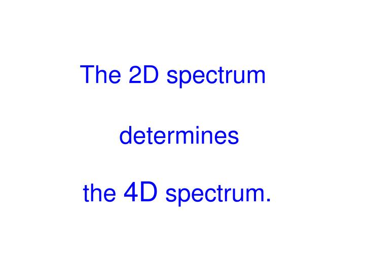 The 2D spectrum