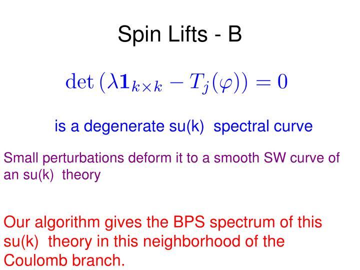 Spin Lifts - B