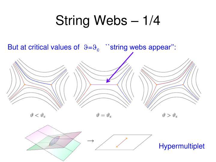 String Webs – 1/4