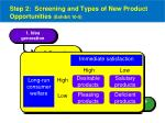 step 2 screening and types of new product opportunities exhibit 10 5