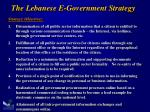 the lebanese e government strategy