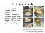 broth continued