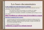 les bases documentaires2