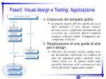 fase3 visual design e testing applicazione