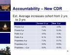 accountability new cdr