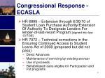 congressional response ecasla