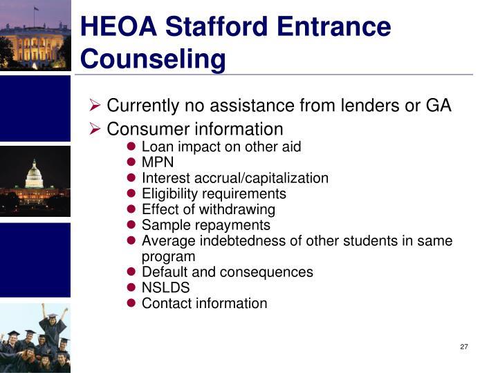 HEOA Stafford Entrance Counseling