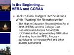 in the beginning hera and ccraa