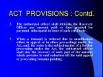 act provisions contd14