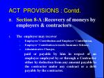 act provisions contd2