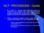 act provisions contd20