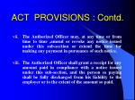 act provisions contd22