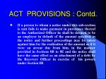 act provisions contd24