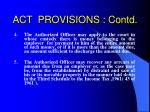 act provisions contd25
