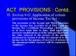 act provisions contd26