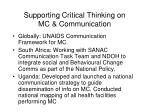 supporting critical thinking on mc communication