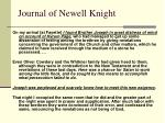 journal of newell knight