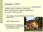 summer 1830