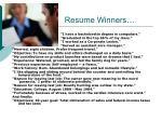 resume winners