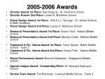 2005 2006 awards