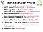 2006 nanoquest awards